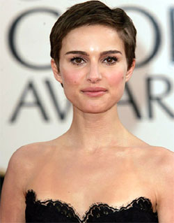 Celebrity Natalie Portman short hairstyles 1