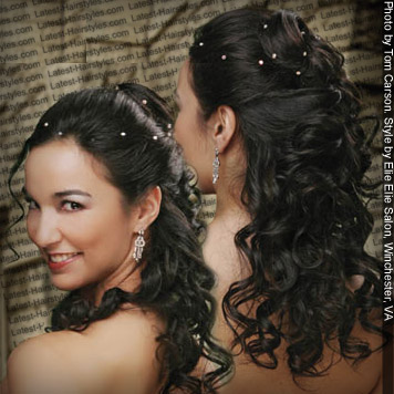 long wedding hair style Some girls just have to have all their hair out of