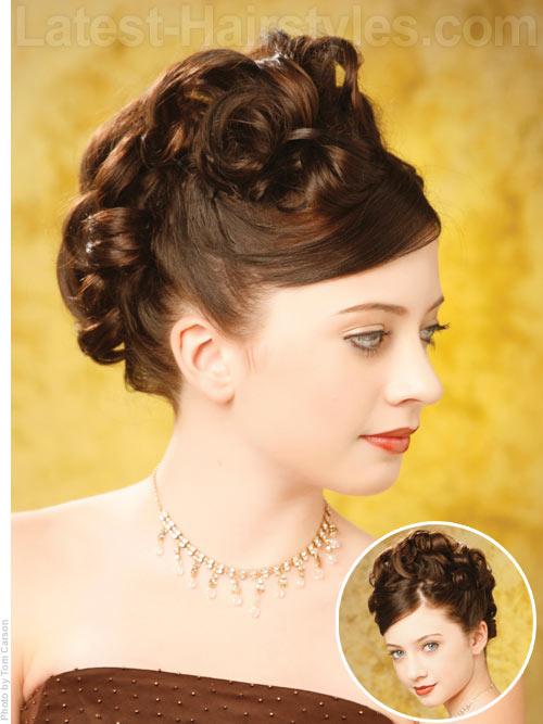winter formal updo curls