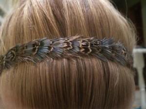 beautiful thin hair feathers