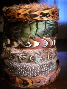 hair feathers in a wrap