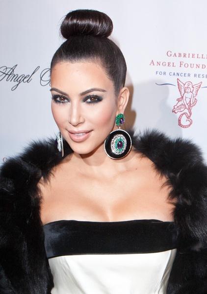Kim's ballerina ponytail