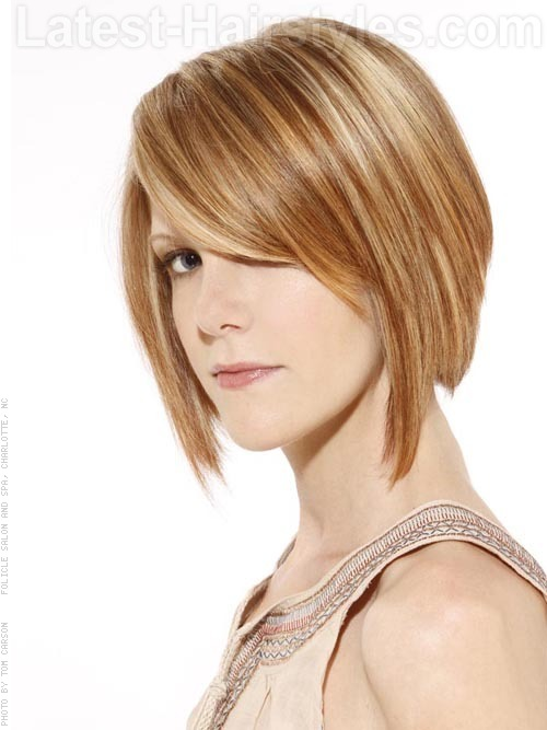 Short Choppy Hairstyle Bob Angle