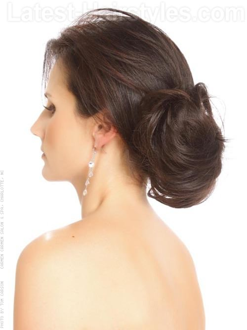 Trending sultry low chignon hair styles in collingwood ontario