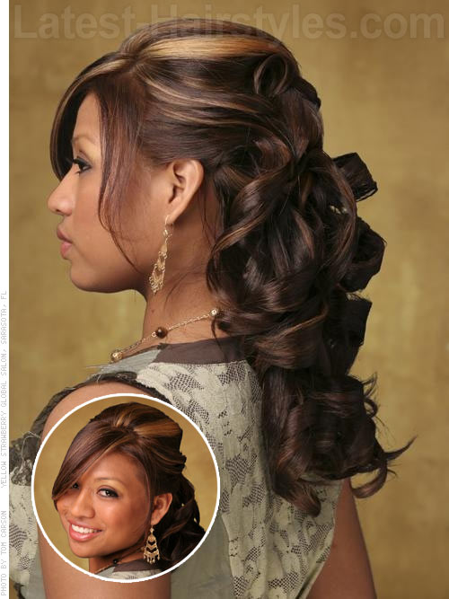 Half Up Half Down Prom Hairstyles - Pictures and How To's