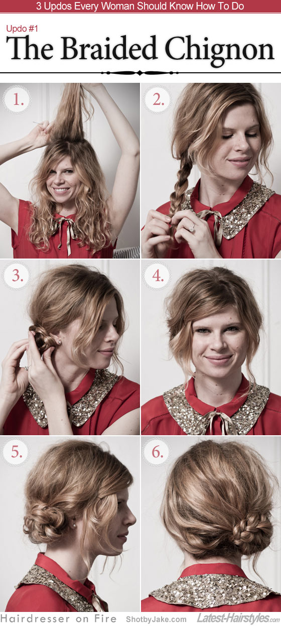 3 Updos Every Woman Should Know How To Do. The Braided Chignon