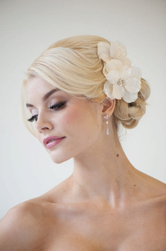floral prom hair accessory