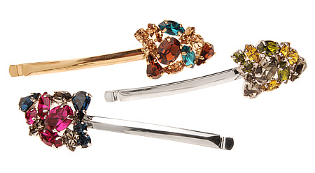 colored crystal bobby pins