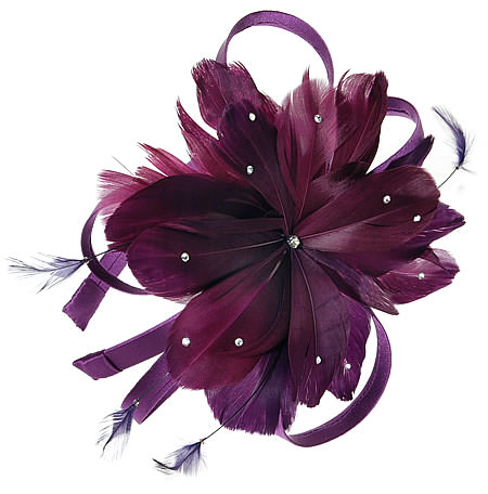 feathered prom hair headband