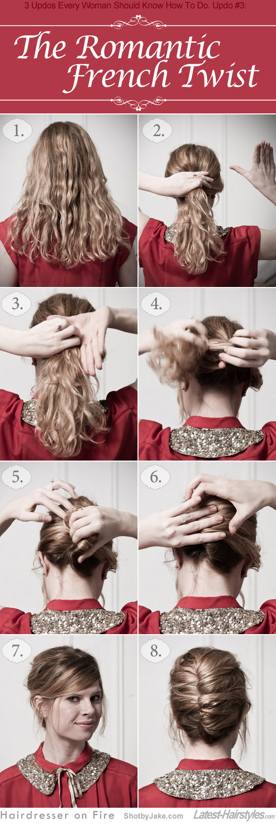 3 Updos Every Woman Should Know How To Do. The Romantic French Twist