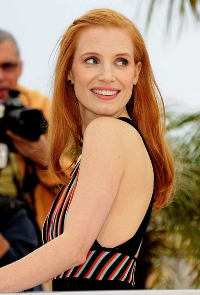 Jessica Chastain rose hair color