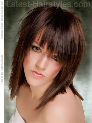 choppy layered haircuts medium length hair choppy bangs pictures trends and styling how to s 5497