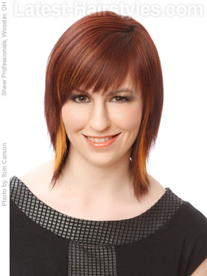 shag bob with choppy bangs Choppy trendy hairstyles are all about lots of layers and textures.