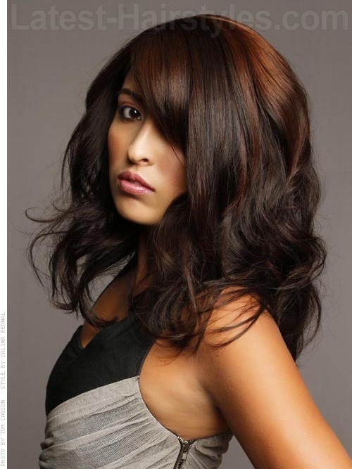 Red Hair Highlights On Pinterest  Cascade Braid Red Highlights And Highlights