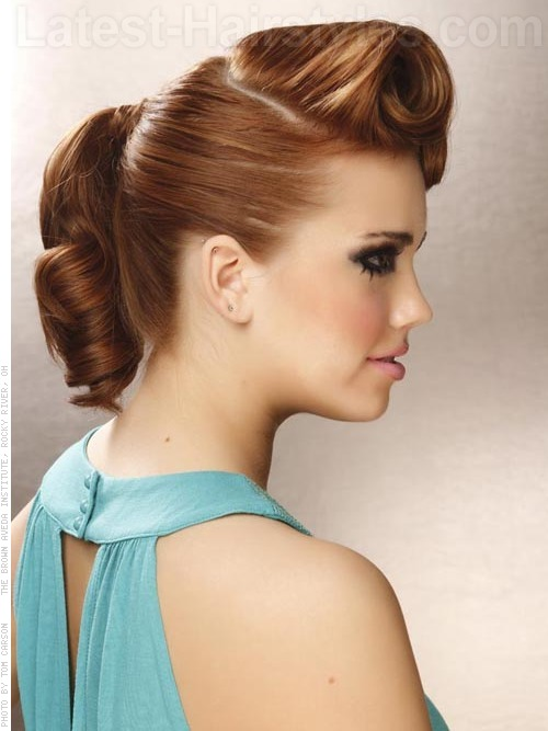 Updo Hairdos For Medium Hair 17