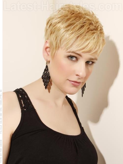 Pixie Shag Cut with Longer Bangs