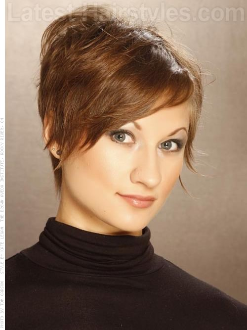 Razored Edge Pixie Cut Sculpted Hair Front View