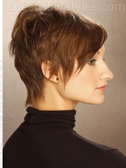 Razored Edge Pixie Cut Sculpted Hair