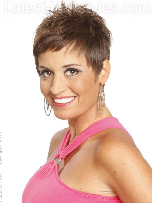 Spiky Fun Pixie Cut for Straight Hair Wispy Pieces