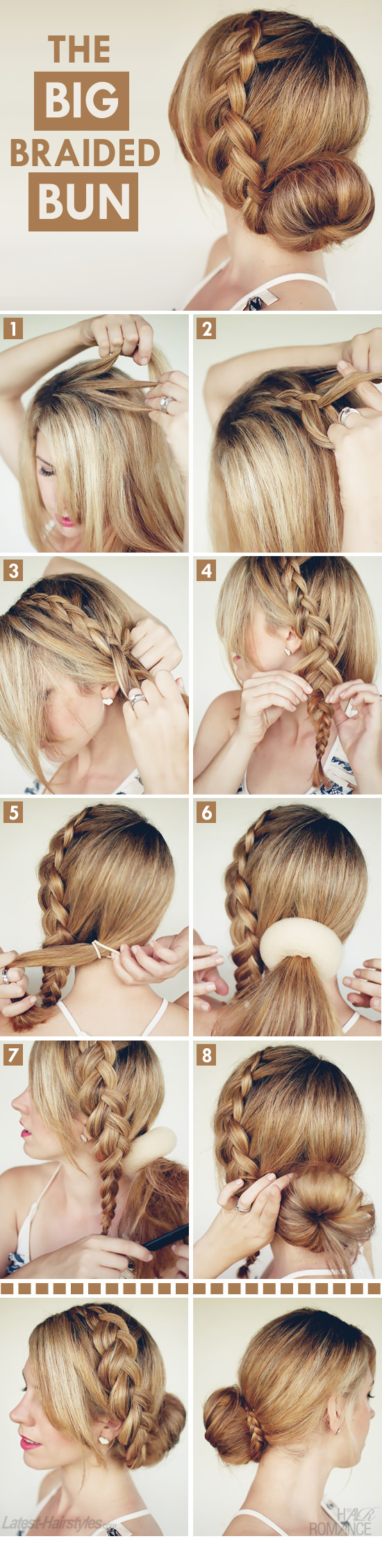 The Big Braided Bun Tutorial