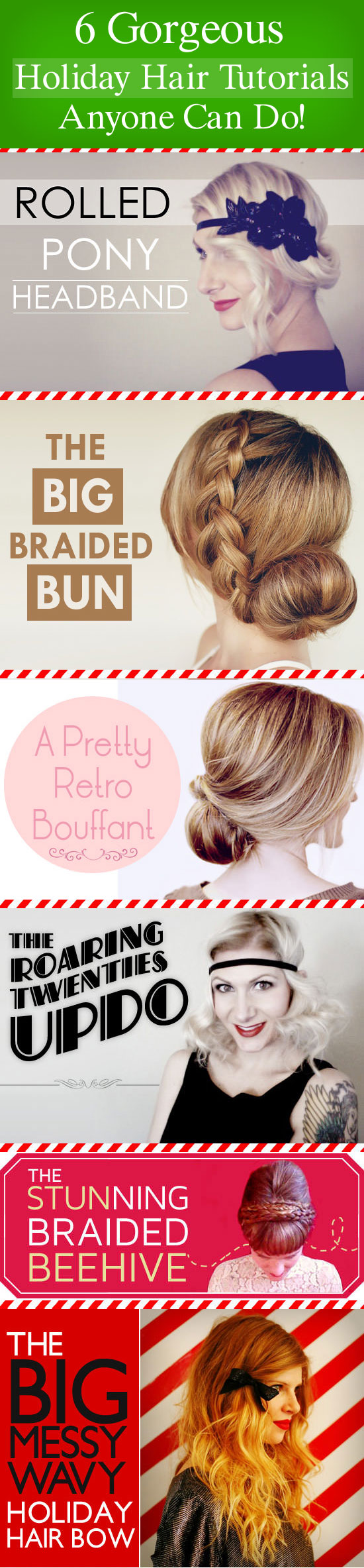 holiday hairstyle tutorials