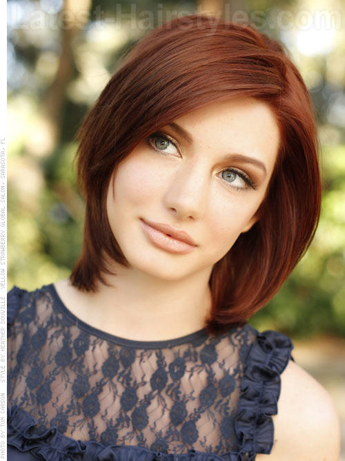 Medium Length Layered Hair Back Of Head Short Hairstyle 2013
