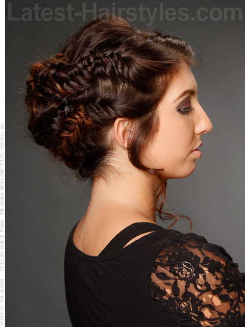 Herringbone Honey Lovely Braided Hairstyles for Prom