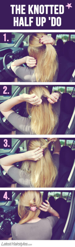 Super Quick & Easy Hairstyles You Can Do in Your (Parked) Car