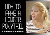How to Fake a Longer Ponytail
