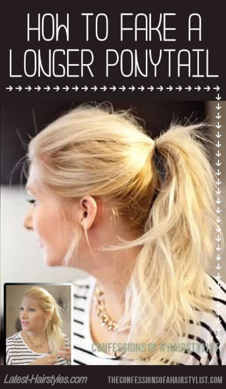 How to Make Your Ponytail Look Longer