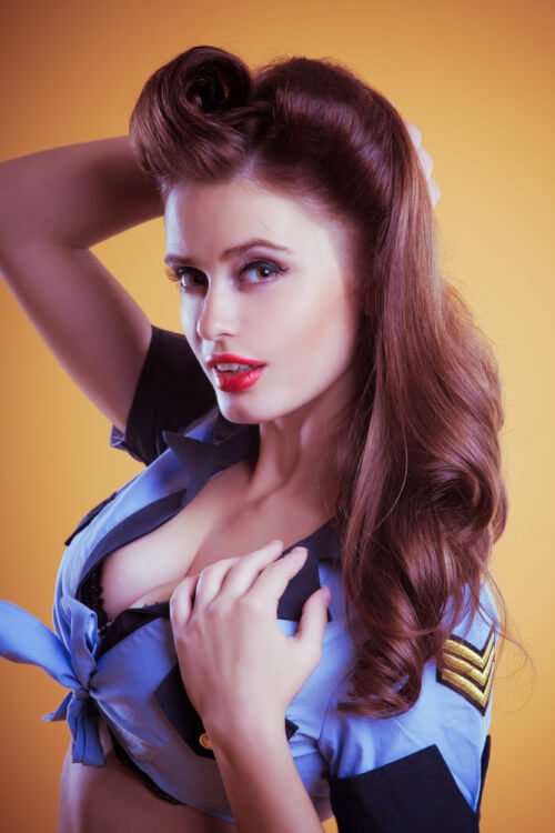 hairstyle hairstyles hair retro easy 60s 50s flight attendant short curls chic simple fantastic latest styles scream curly face medium