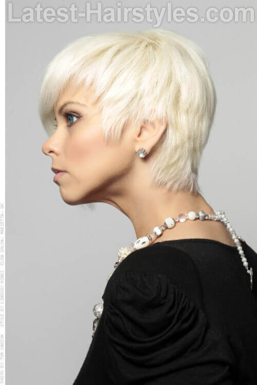 Asymmetrical Short Funky Hairstyle Side View