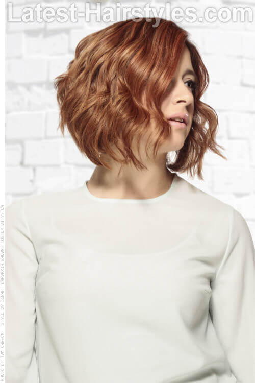 Best Wavy Short Stacked Hairstyle