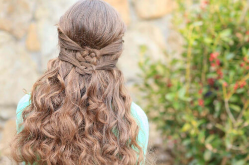 Double Celtic Knotted Hairstyle