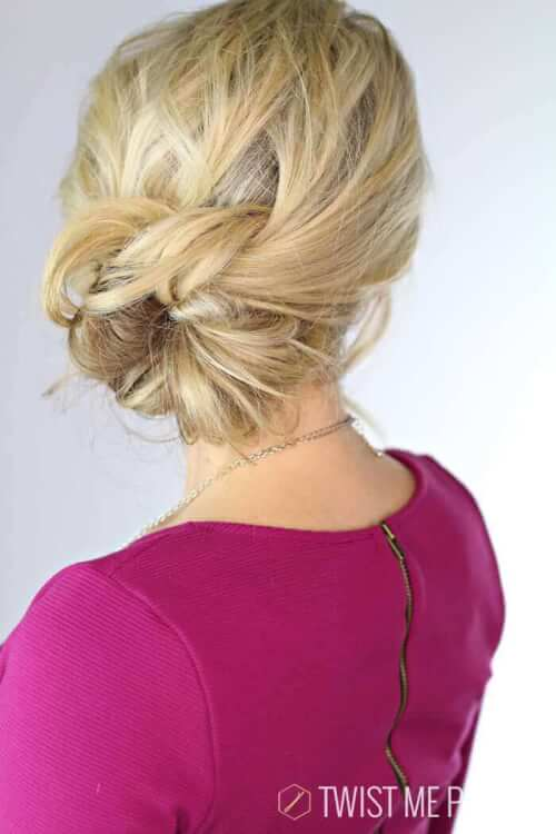 Elegant Knotted Updo Hairstyle