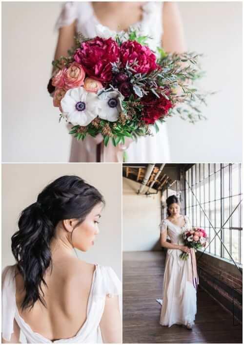 Fall Wedding Hair Ideas - The Half Up Side Braid
