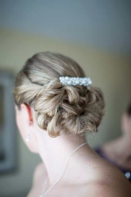 Fall Wedding Hair Ideas - Low Curled Updo