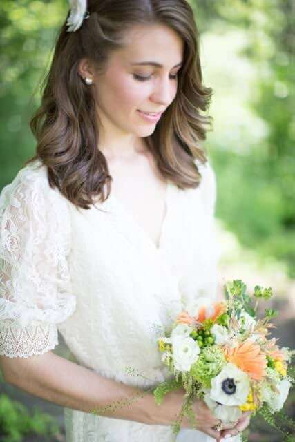 Fall Wedding Hair Ideas - Side Swept and Pinned