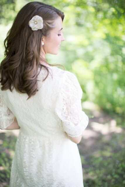Fall Wedding Hairstyles - Side Swept and Pinned