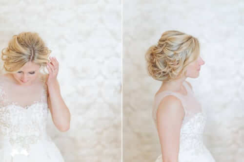Fall Wedding Hair Ideas - Tousled Updo