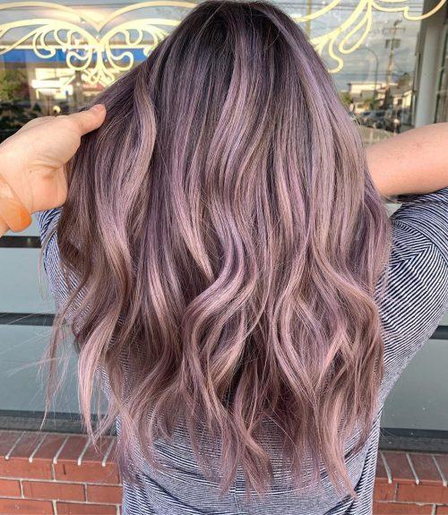 Ash Blonde Violet hair color
