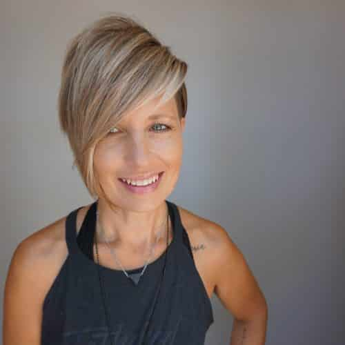Ash Brown Pixie Undercut