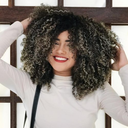 Black to Silver on Kinky Curly Hair