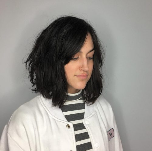 choppy layered bob