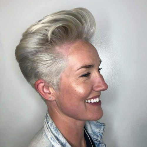androgynous haircut for thick hair