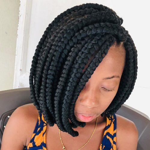 Short crochet box braids