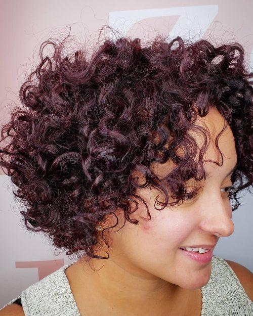 Curly Hair with Yummy Raisin Balayage