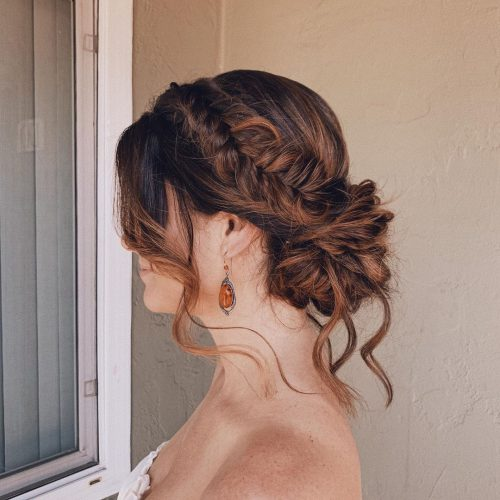 Cute Halo Braid with Bangs