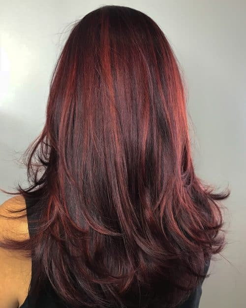 15 Hottest Brown Hair with Red Highlights