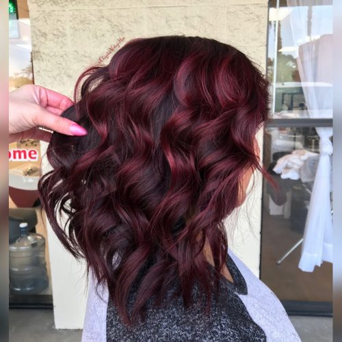 Dark cherry hair color